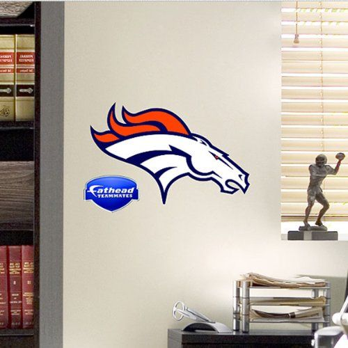 NFL Denver Broncos Teammate Logo Wall Sticker Decal Fathead,http ...