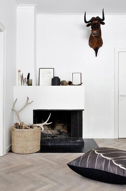 Home Decor . Interior Design Inspiration . Fireplace . Nordic Style .