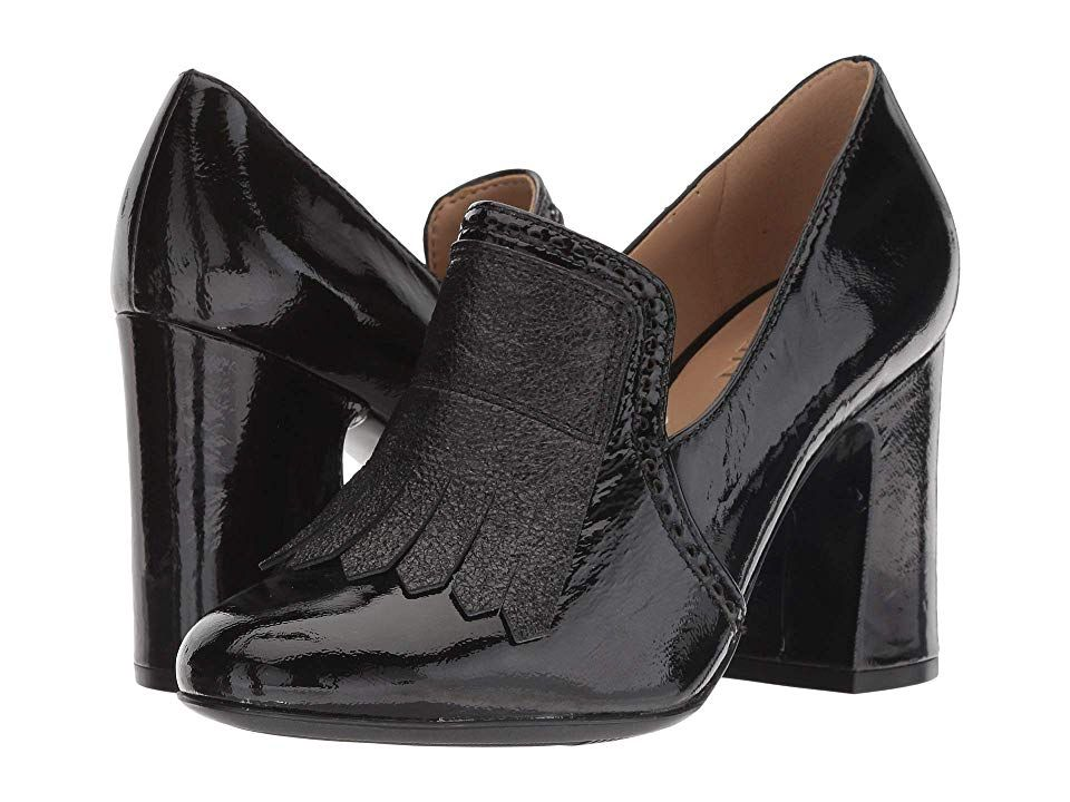 f12d3369c41 Naturalizer Sammy (Black Patent Sparkle Leather) Women s Shoes. Step out in  style