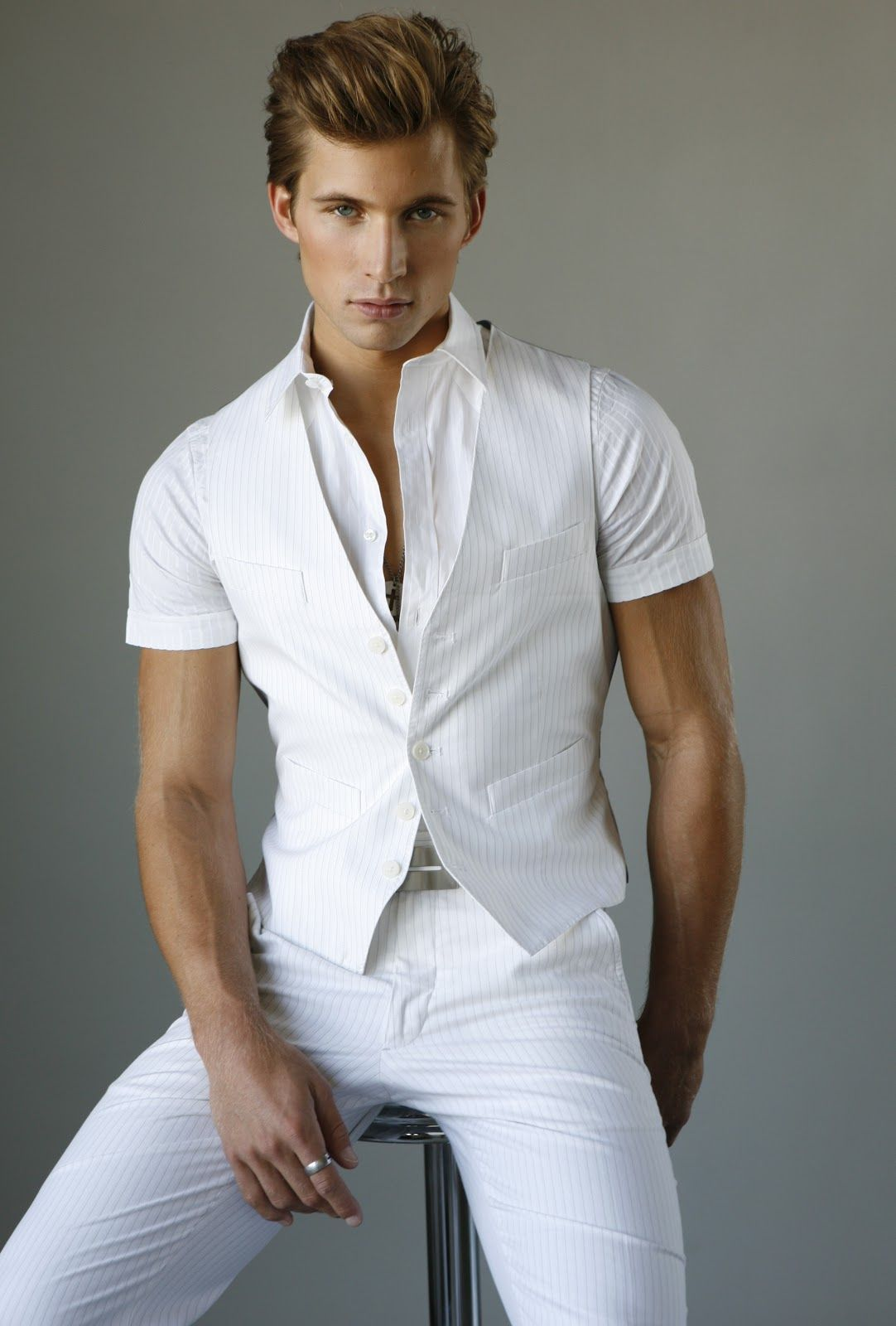 All in white justin deeley looks pinterest men 39 s for White shirt outfit mens