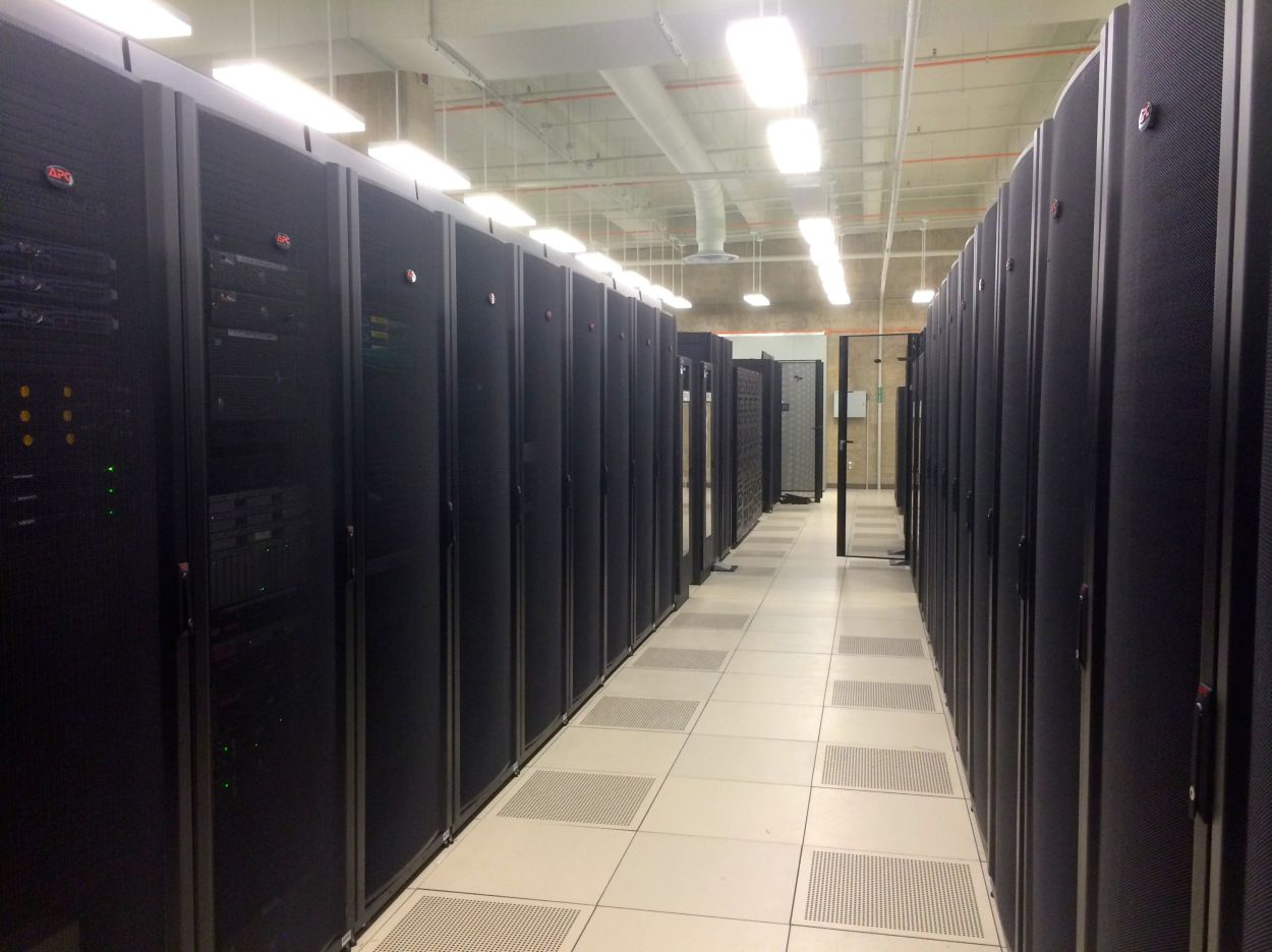 Indiana university data center here are two long rows of server indiana university data center here are two long rows of server racks in one of dailygadgetfo Choice Image