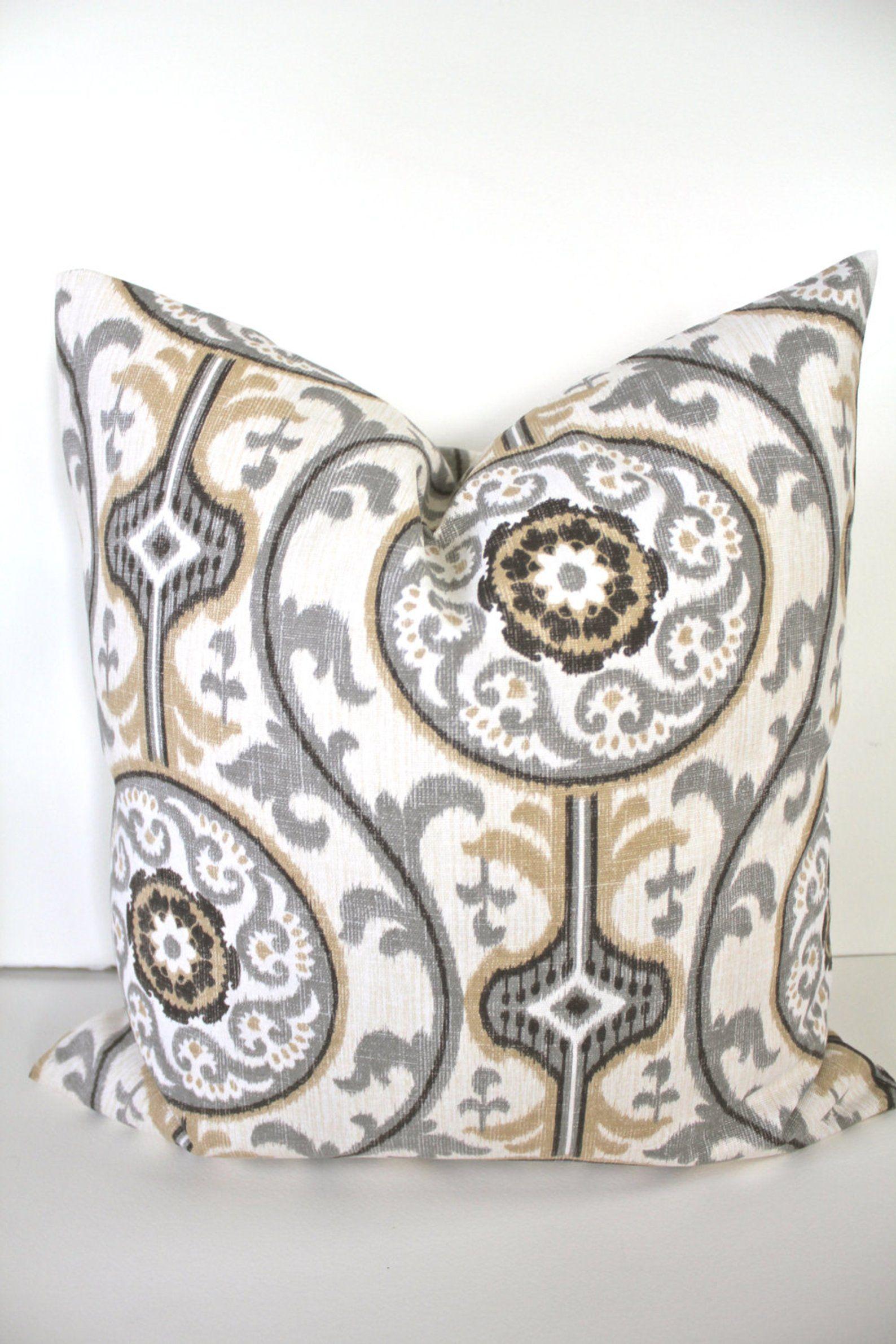 Pillow Tan Throw Pillows Gray Decorative Throw Pillow Covers