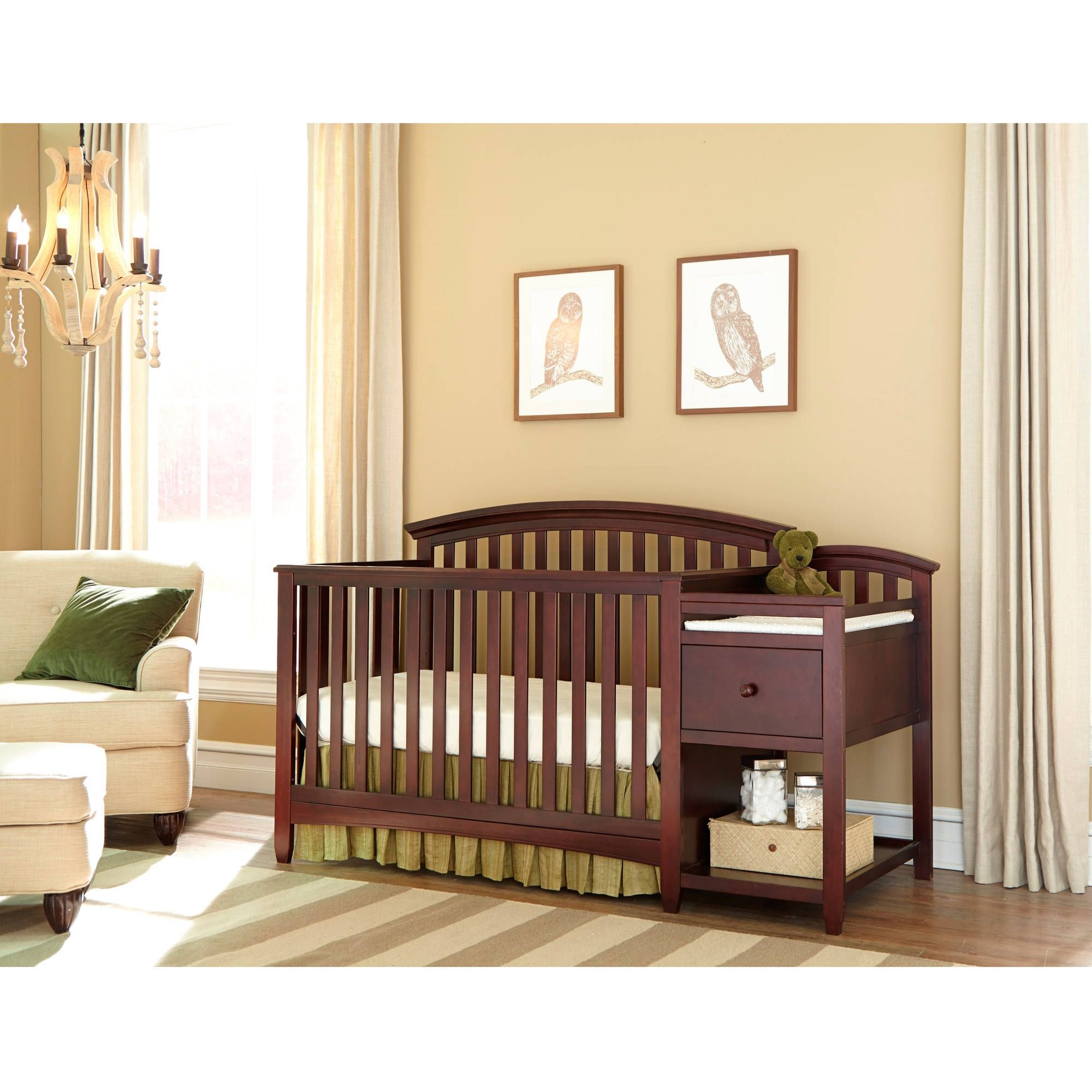 Chocolate Mist Changing Table | http://samhosted.com | Pinterest