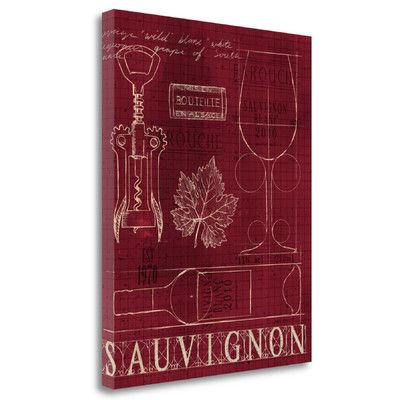 Tangletown Fine Art 'Wine Blueprint IV v2' by Marco Fabiano Vintage Advertisement on Wrapped Canvas