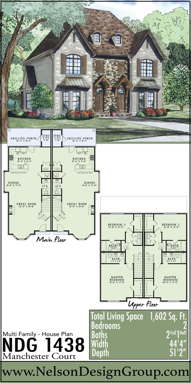 Multi Family Collection House Plan 1438 Manchester Court In 2020 Viktorianische Architektur Haus Blaupausen Haus Plane