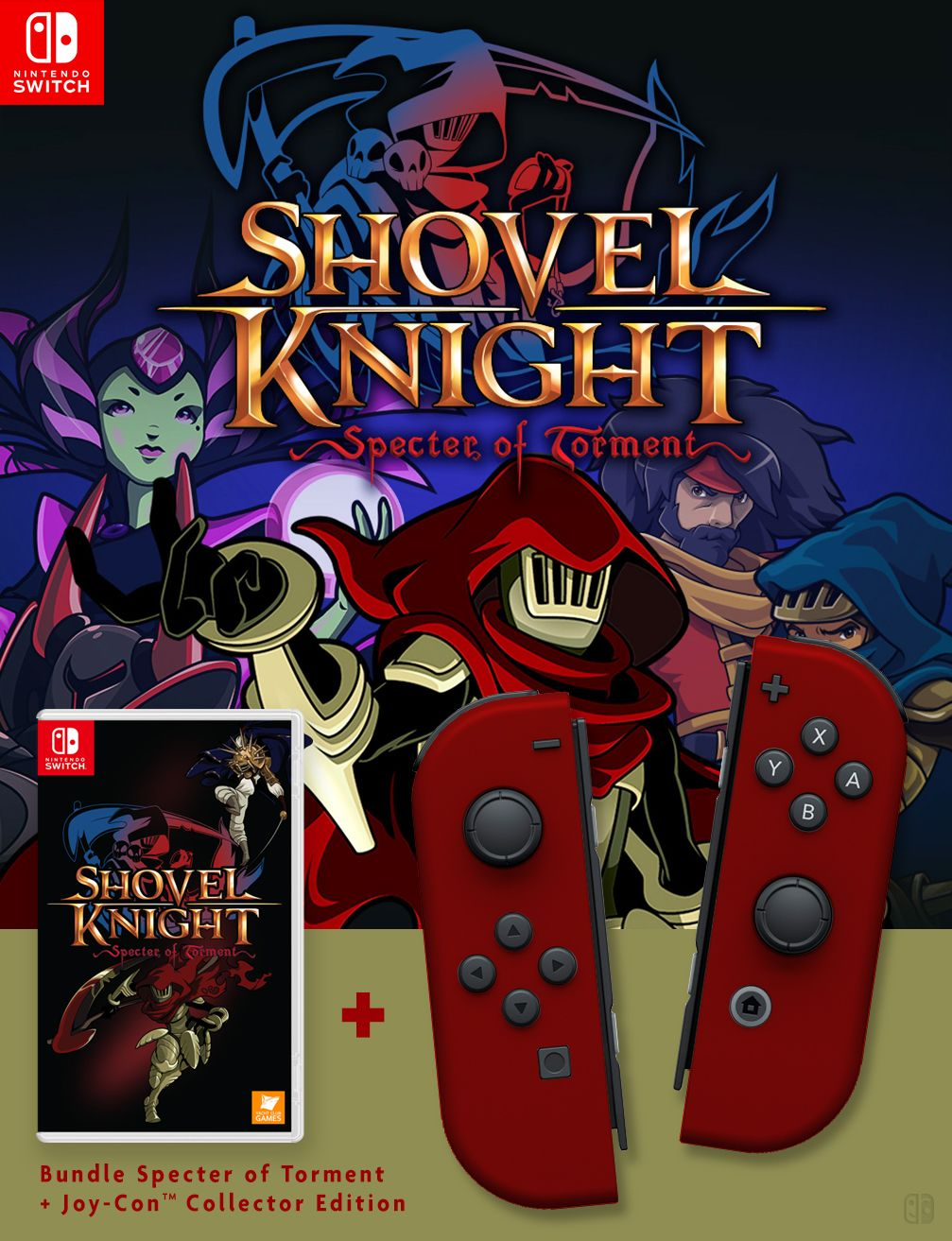 Shovel Knight : Specter of Torment. Nintendo Joy-Con Collector Nintendo Switch (A Switch Me fan art). If U like it, follow me on Twitter : @switchmelike ! joycon, nintendo switch, dock, joy-con, Joy-Con Strap