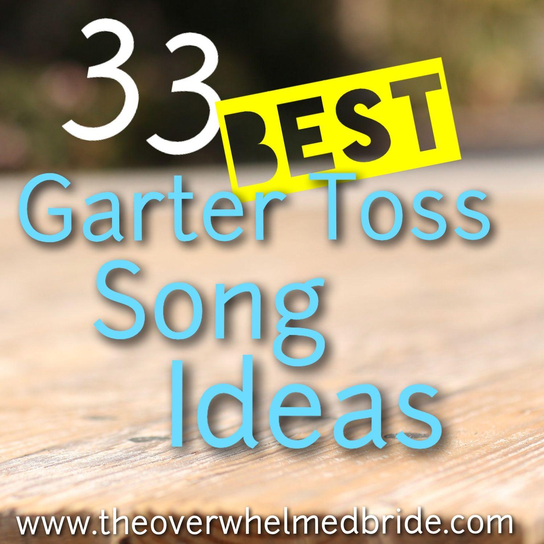 Wedding Garter Songs: Sunday's Most Loved // 33 Top Garter Toss Song Ideas