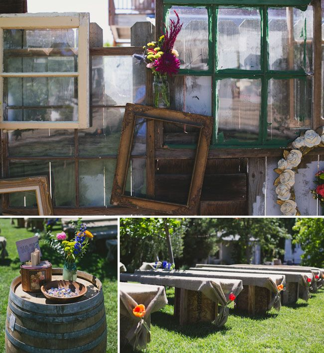 Wedding Altar Sims: Santa Ynez Backyard Wedding: Tenille + Travis