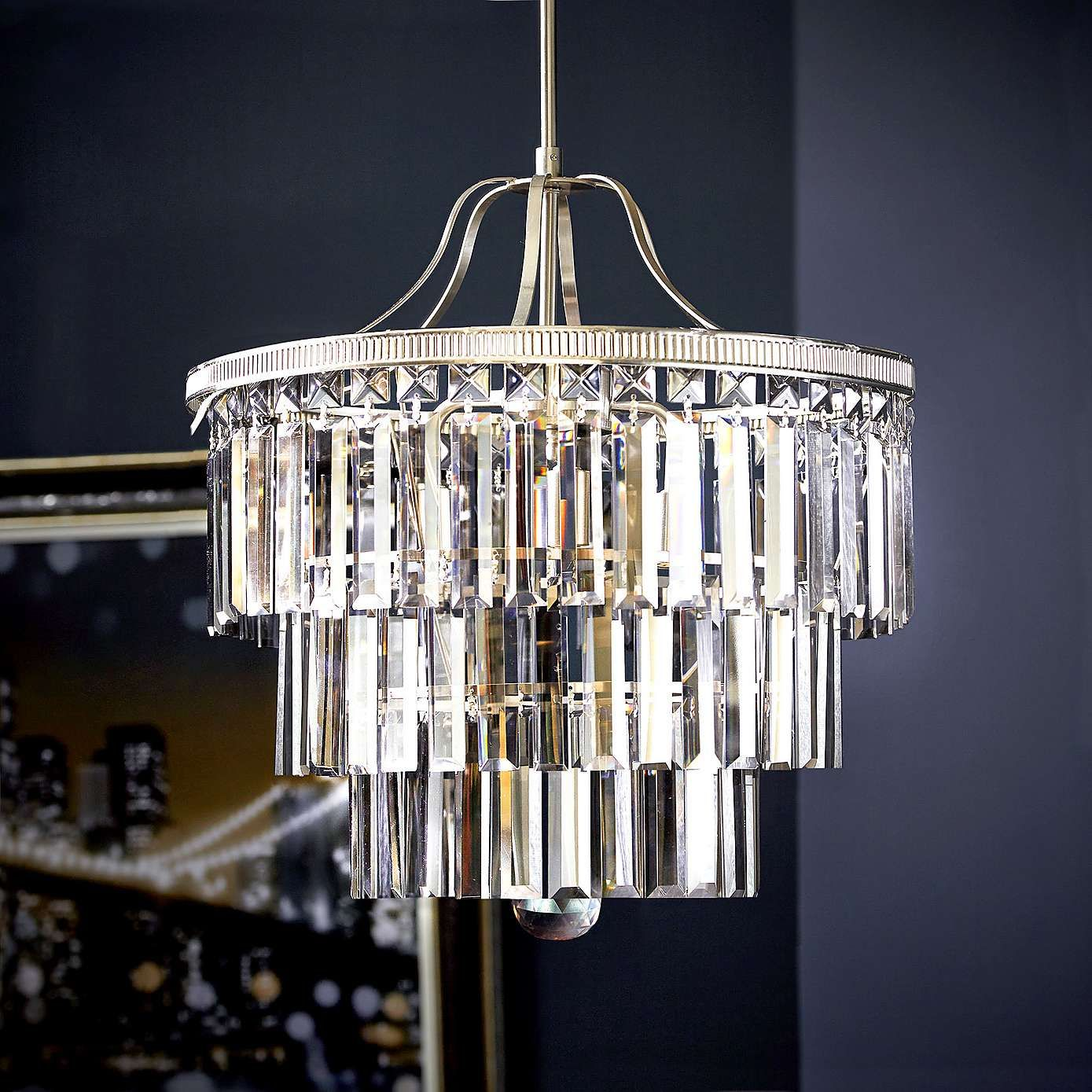 crystal chandelier dunelm # 6
