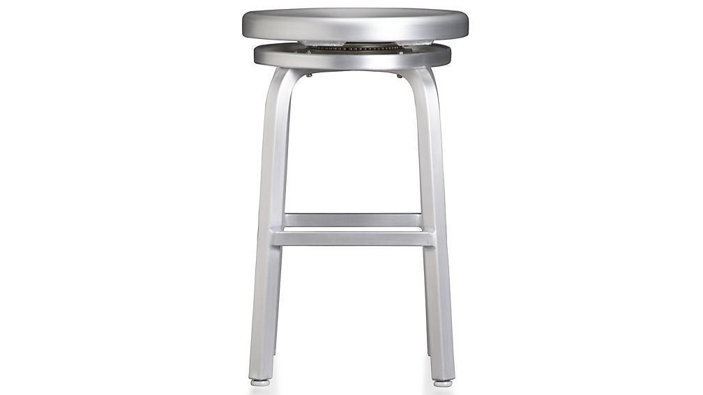 Spin Swivel Backless Bar Stools And Cushion Living Room