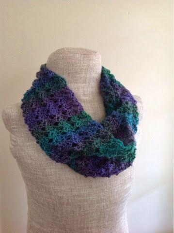 Undeniable Glitter: Double V-Stitch Infinity Scarf | Crochet Scarfs ...