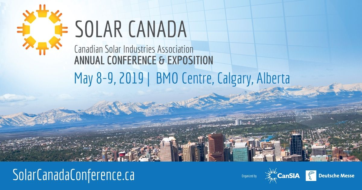 We're exhibiting at the Solar Canada 2019 Conference on