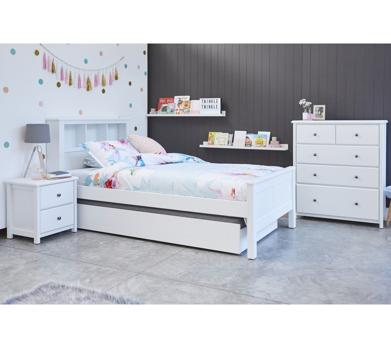 Loft captains bed twin  Logan White Bookshelf Kids Bed  Delicious Decor  Pinterest