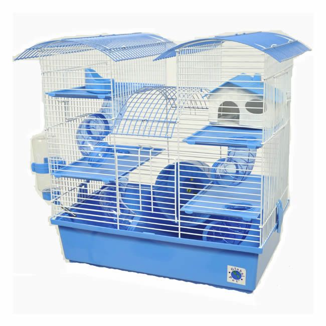 Abby Hamster Cage. I think its available in pink Hamster