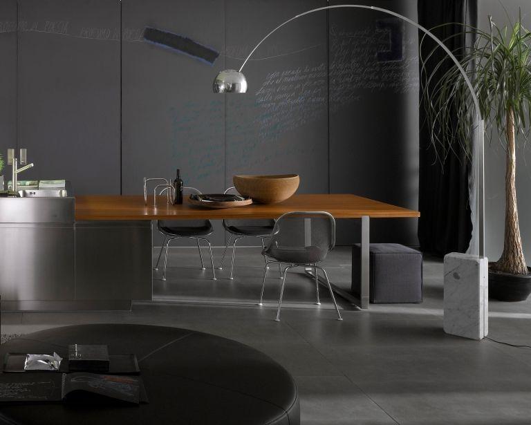 Bogenleuchte Ber Esstisch Bogenlampe Zeitgen Ssische Inneneinrichtung Interior Design Magazine