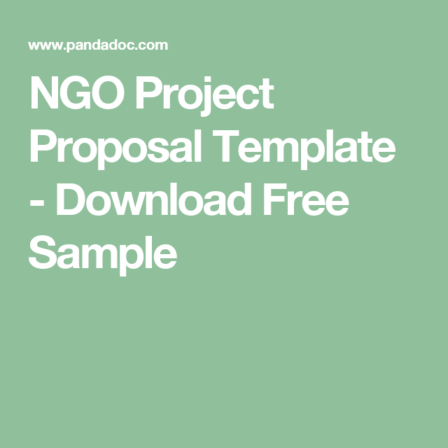 Ngo Project Proposal Template Download Free Sample Proposals