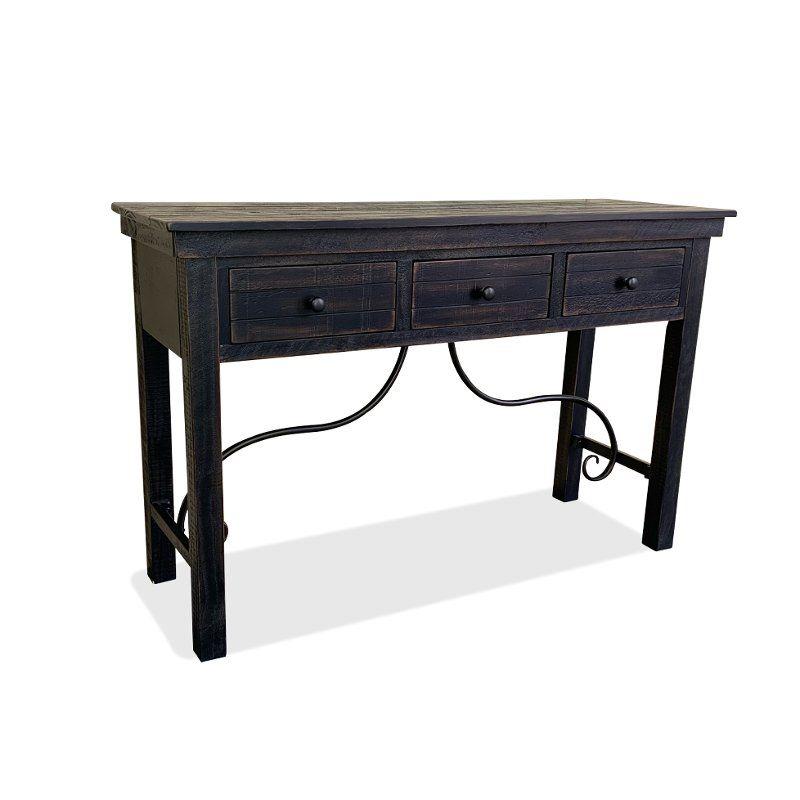 Distressed Black Sofa Table San Miniato Black Sofa Table