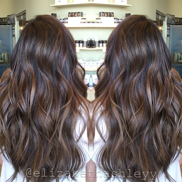 Spring Time Natural Brown Balayage Painted Hair Long Hair With