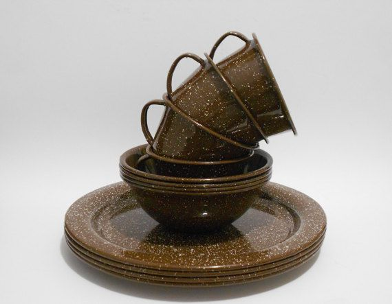 Vintage Enamel Camp Dishes