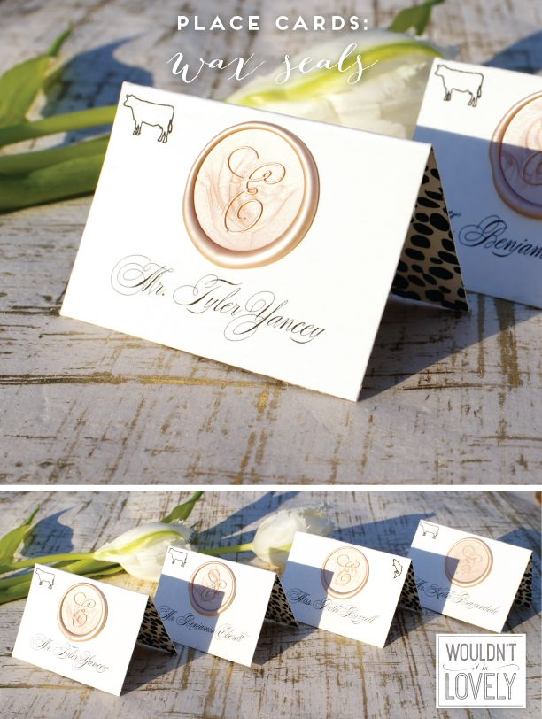 Wedding Extras Program And Place Cards With Wax Seals Wouldn T It Be Lovely Wedding Place Cards Wedding Invitations Diy Place Card Table Wedding