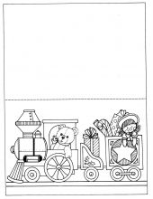 Raskraska Otkrytka Rozhdestvenskij Poezd Coloring Pages Christmas Decorations Gifts