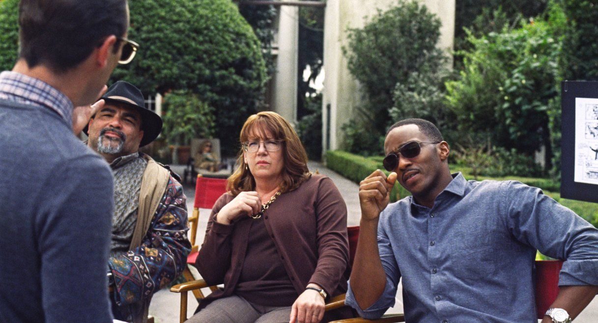 Ann Dowd and Anthony Mackie in Our Brand is Crisis