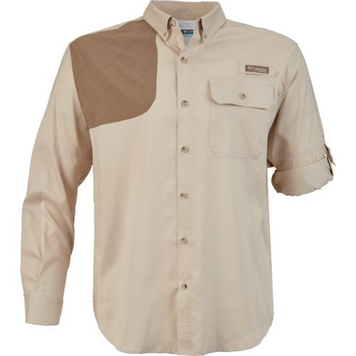 40858616f27 Columbia Sportswear Men's Blood and Guts Shooting Shirt (Beige Or Khaki,  Size X Large) - Men's Outdoor Apparel, Men's Longsleeve Outdoor Tops at Ac..