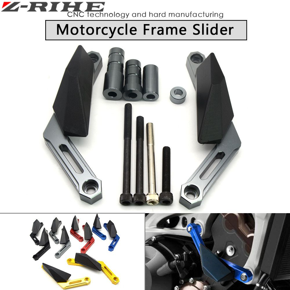 Check Discount Brand New Moto Cnc Frame Sliders Crash Pads Protect Slider All Cbr 150 R Motorbike Falling Protector For Yamaha Motorbikes