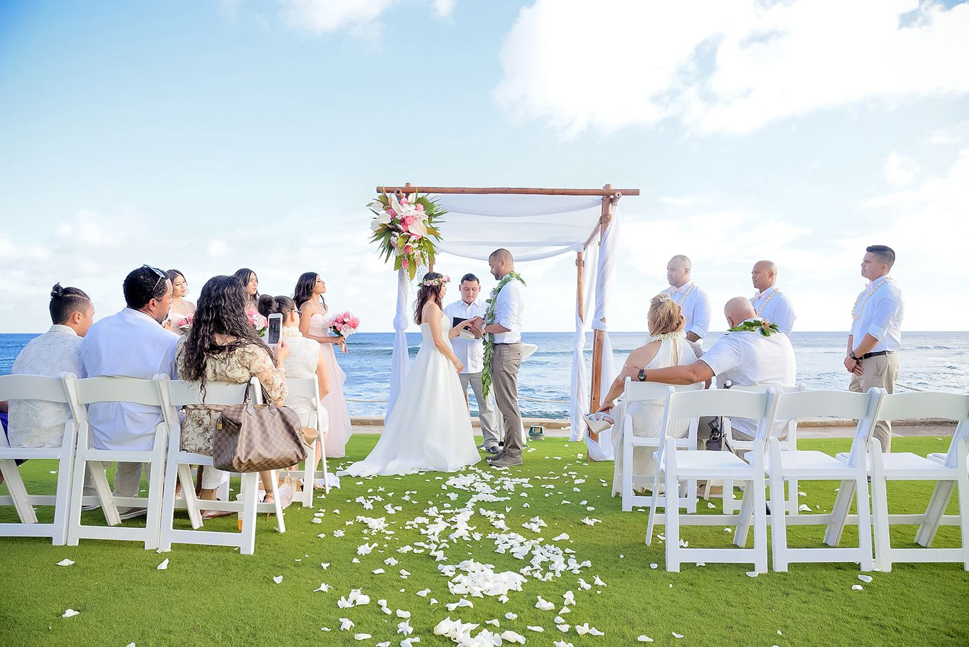 Matrimonio In Spiaggia Hawaii : Cathy al wedding at the beach house in kauai hawaii