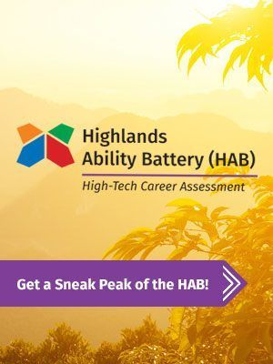 The Highlands Ability Battery (HAB) serves as an student career test