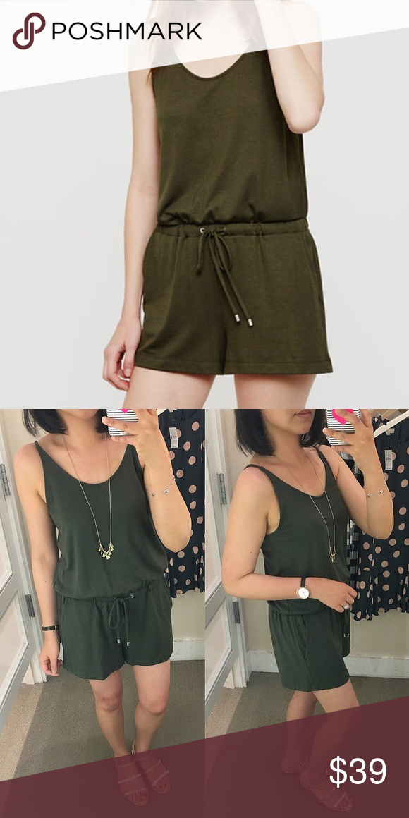 3663df0486a8 Lou   Grey Army Green Romper  Ann Taylor Loft  Lou   Grey Army Green Romper    NWOT!   so soft! Wear it with a denim jacket or by itself. Super chic and  ...