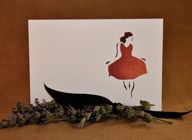 Girl in Garnet Dress