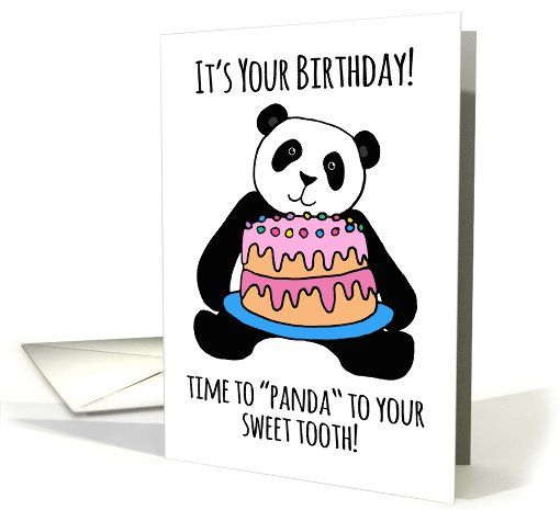 Cute Panda Birthday Card Cake Frosting For Your Sweet Tooth Card Panda Birthday Cards Happy Birthday Card Funny Happy Birthday Funny