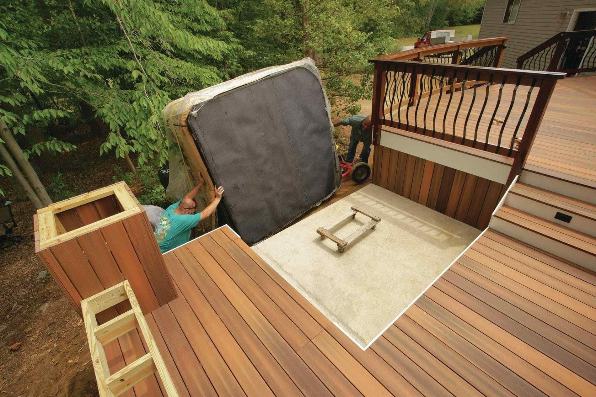 13 Genius Concepts Of How To Craft Backyard Deck Ideas With Hot Tub Hot Tub Backyard Hot Tub Deck Hot Tub Landscaping