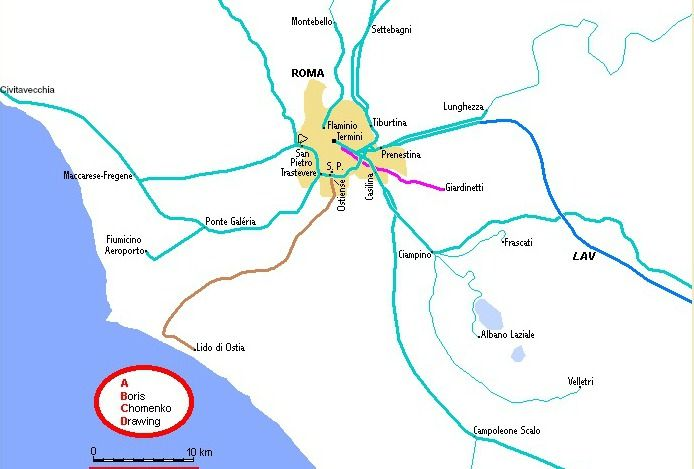 Map Of Rome Trains To Fiumicino And Civitavecchia Travel Italy: Civitavecchia Rome Italy Map At Slyspyder.com