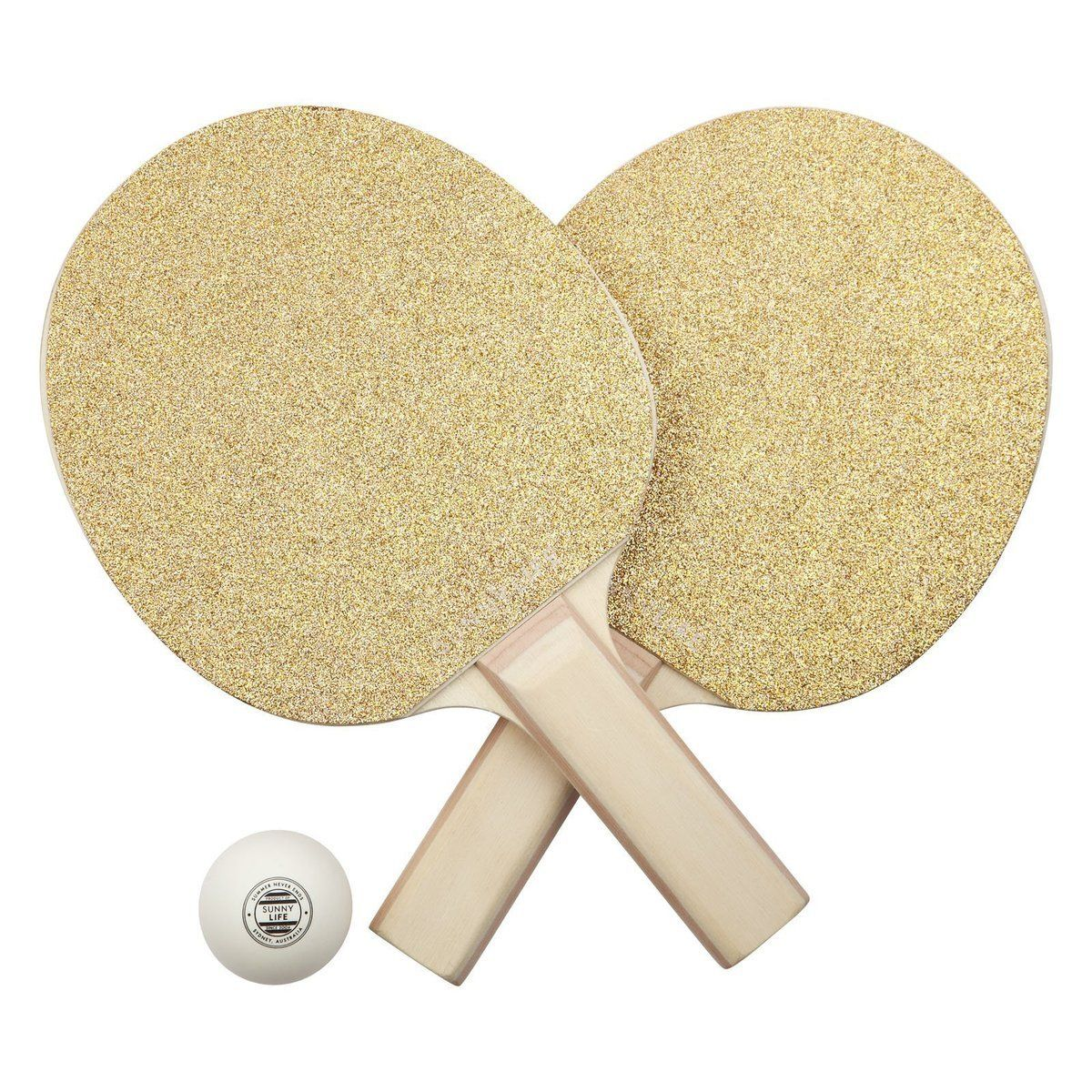 Sunnylife Table Top Tennis Game Ping Pong Set For Kids And Adults Gold Glitter Tennis Games Sunnylife Ping Pong