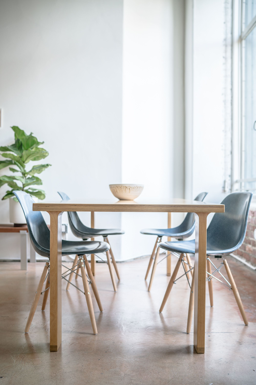 Modernica Tenon Table and Fiberglass Shell Chairs