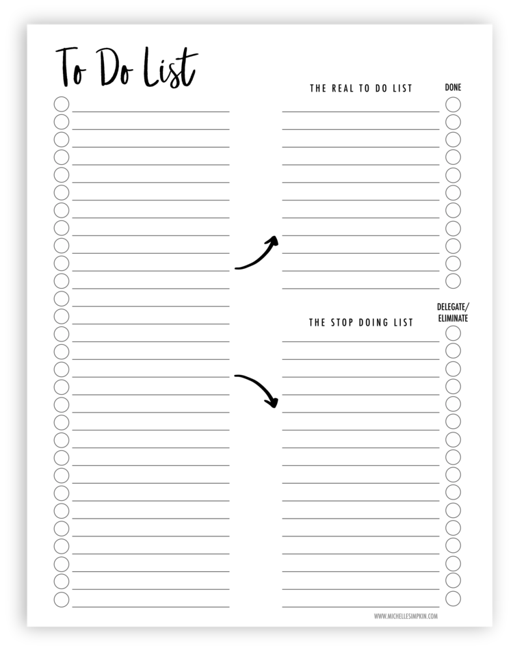 image about Free Printable to Do Lists to Get Organized known as Arrange your in the direction of do listing with this cost-free printable! Itll