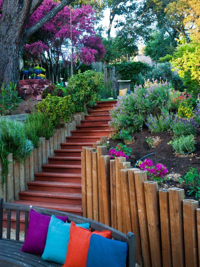 gartentreppe holz gartentreppen gartengestaltung | Gartengestaltung ...