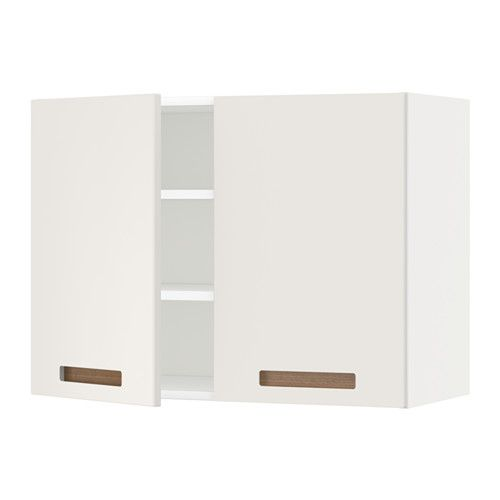 Metod Wall Cabinet With Shelves2 Doors Whitemrsta White 80x60 Cm
