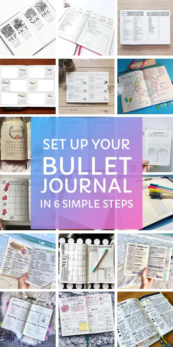 How to Set Up Your Bullet Journal in 6 Simple Steps