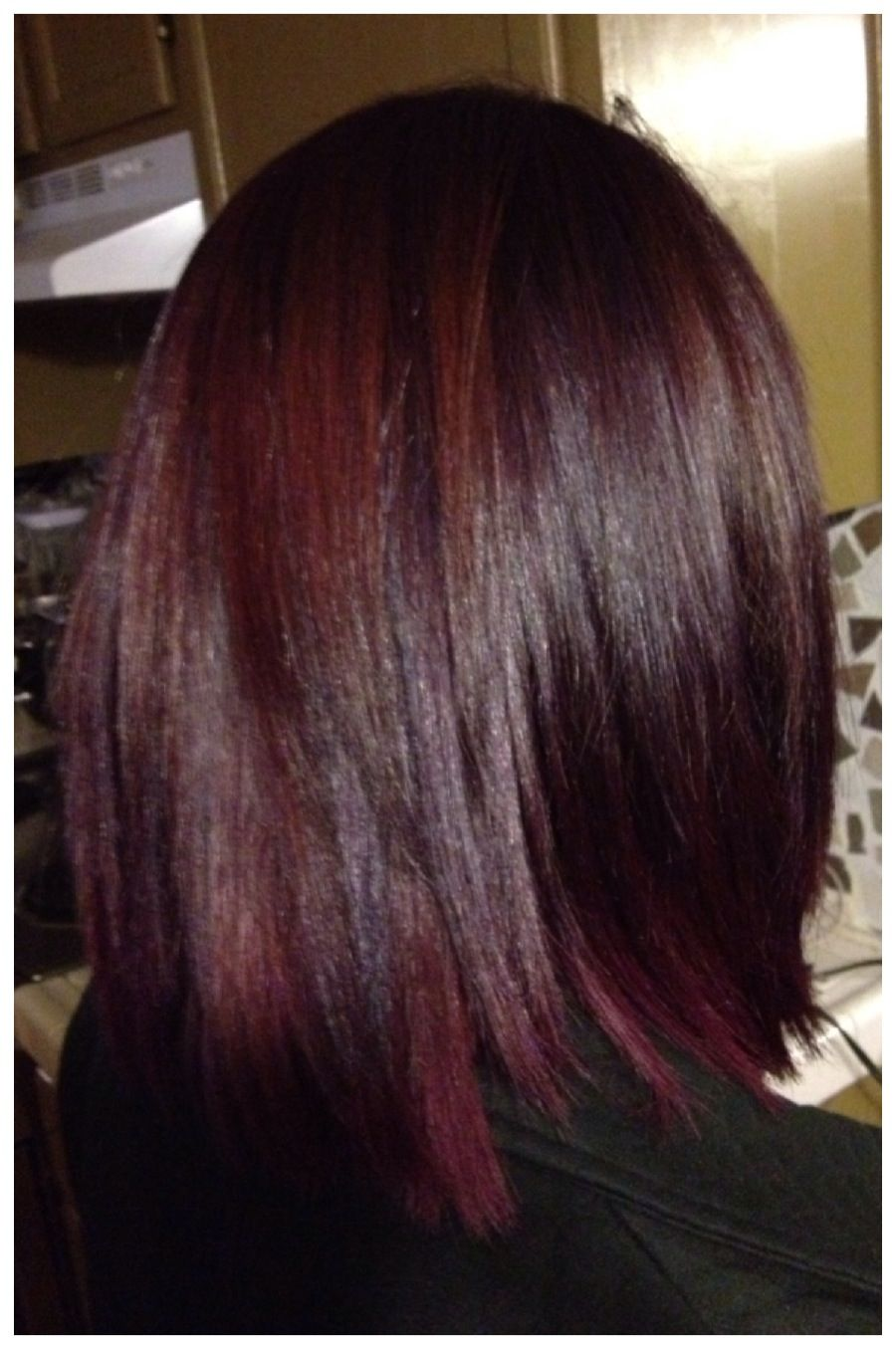 Pravana Hair Color Magenta And Purple Shadowing Hair By