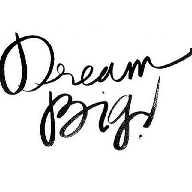 Dream Big Business Words Teksten Tekst Citaten Spreuken