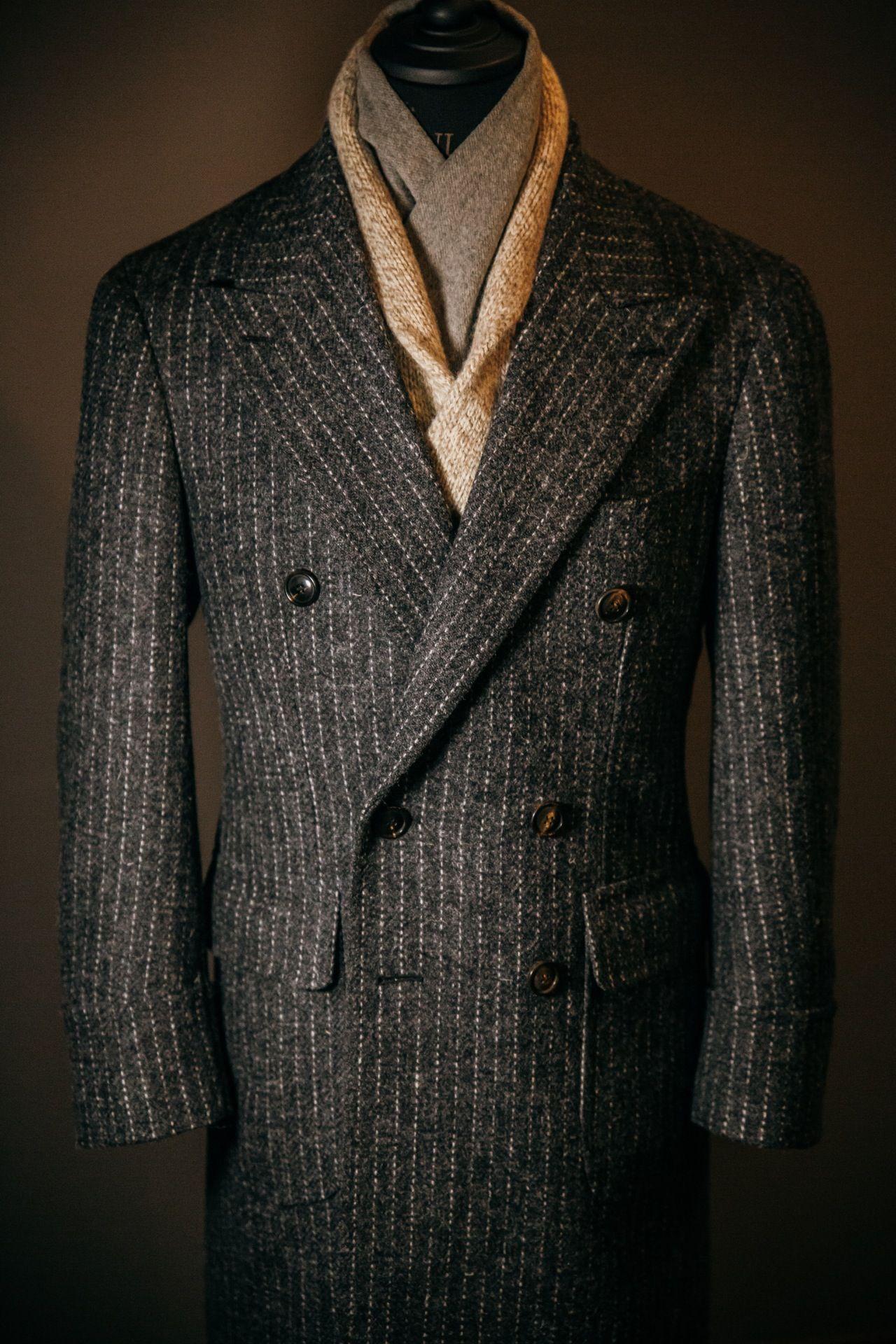 a47cb80cb83b7 VANNI — Tweed polo coat Harris Tweed   Int   Polo coat, Tartan ...