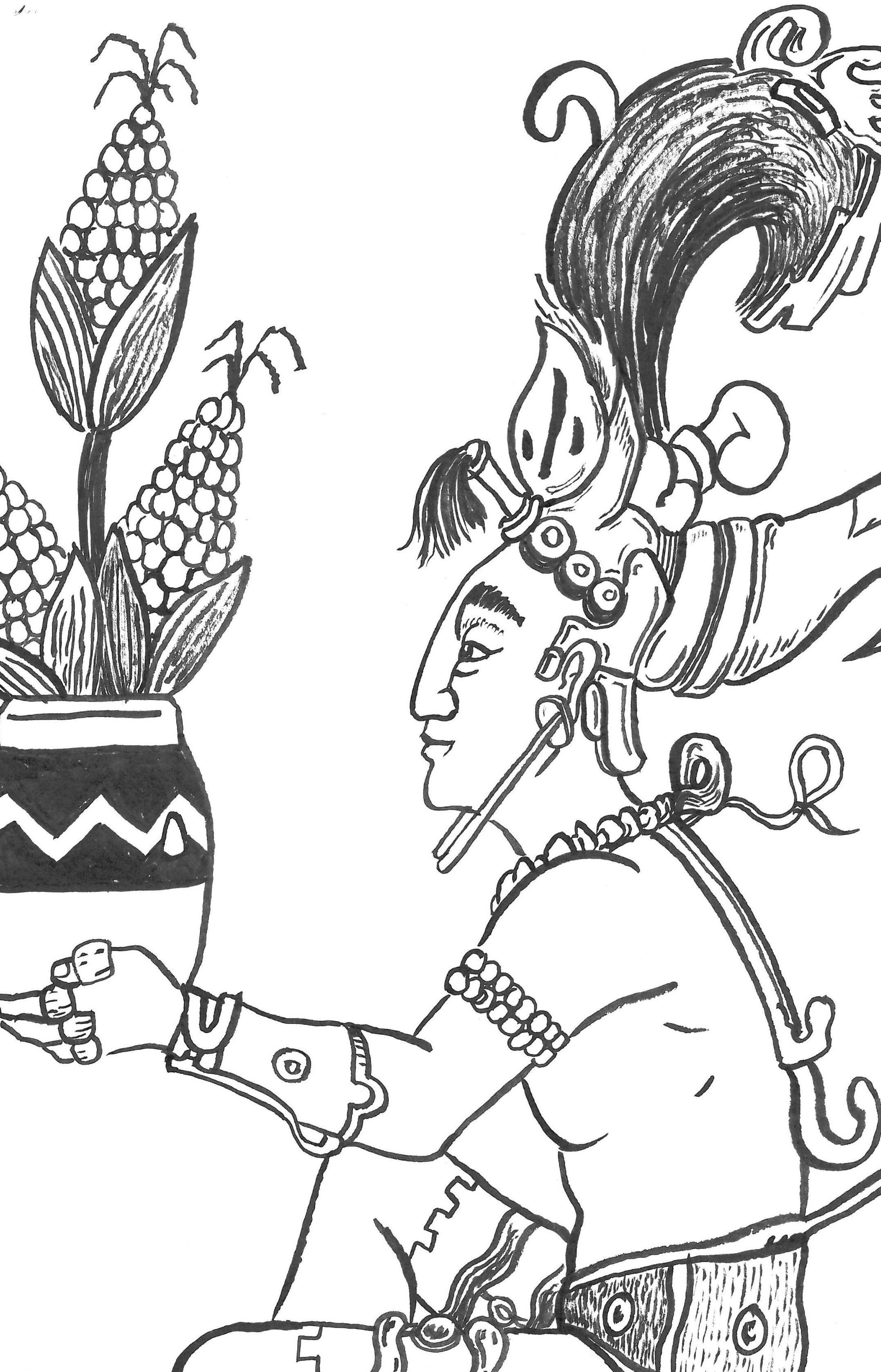 Centeotl Reinterpretacion Dibujo Hecho Para Tamaleria Nicte Ha En Cholula Puebla Toltecas Aztecas Deidades