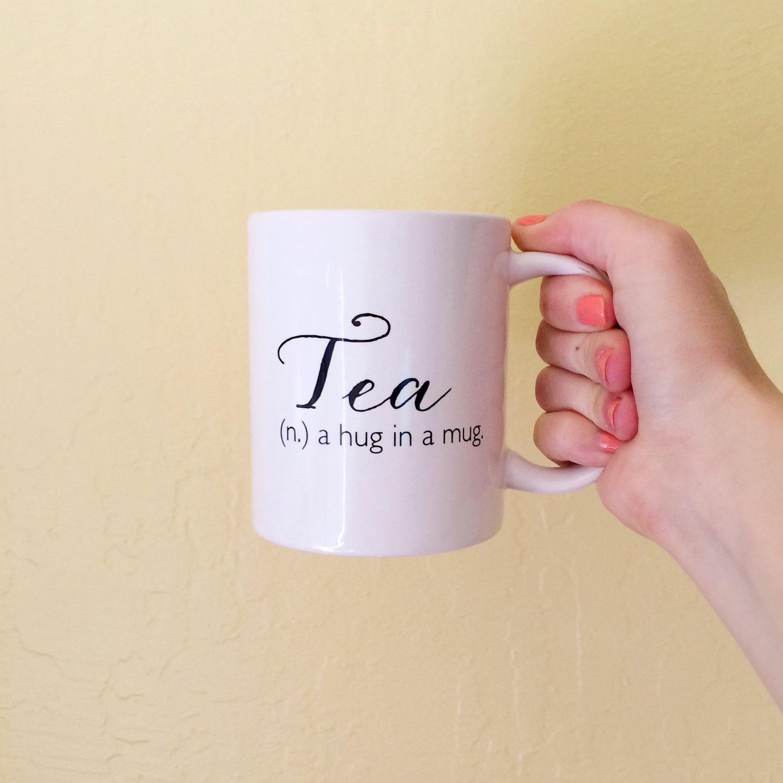 Tea (n.) A Hug In A Mug Tea Mug // Brittany Garner Design