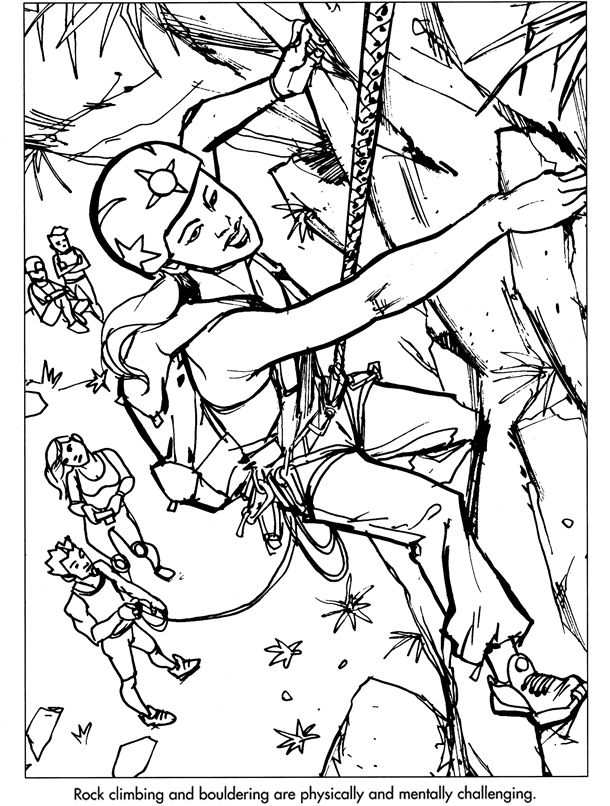 Welcome to Dover Publications Extreme Sports   Kids: Coloring pages ...