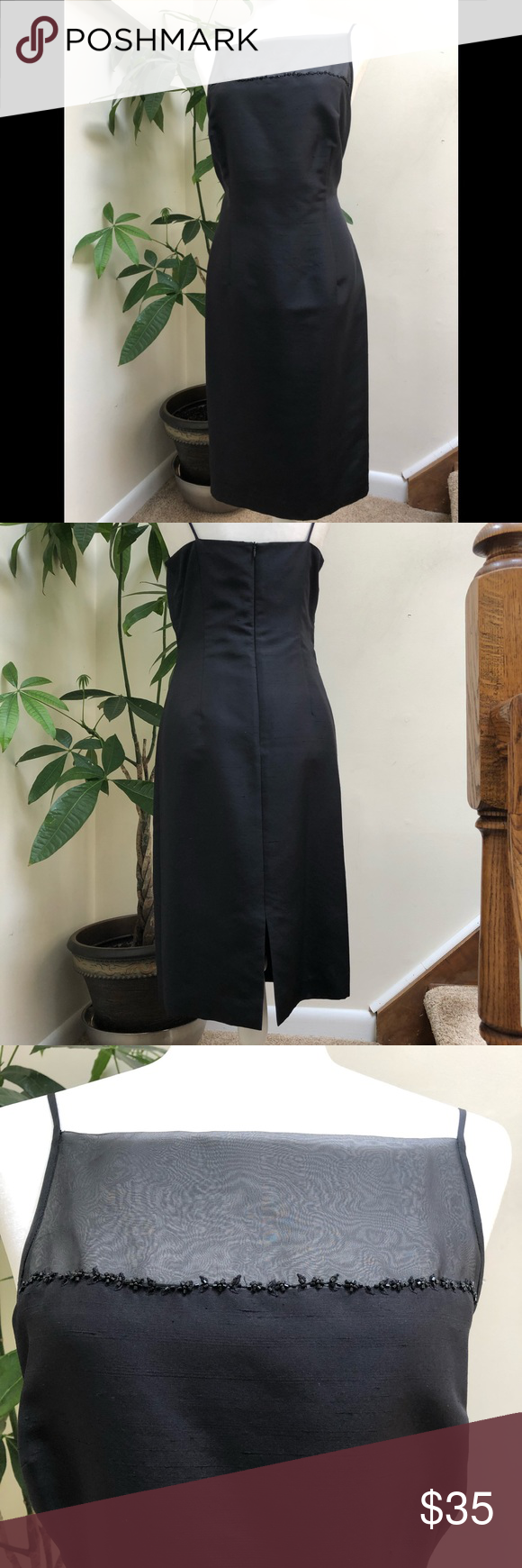 Liz Claiborne Black Dress Liz Claiborne Black Spaghetti Strap Dress Liz Claiborne Dresses [ 1740 x 580 Pixel ]