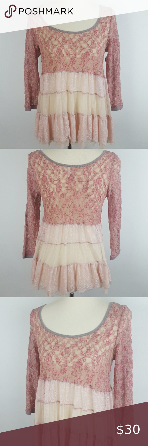 Free People Top Free People Top. Size Small Petite. In good condition! Absolutely beautiful free people piece. Light weight. Perfect for spring! Would look cute with a pair of skinny jeans.  #0728 ◾Length 22.5