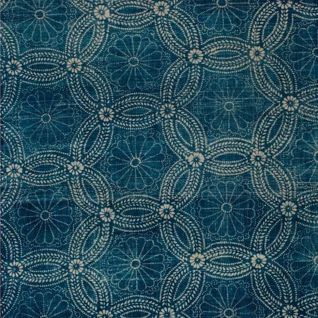 Detail of a early 20th century Japanese Indigo textile